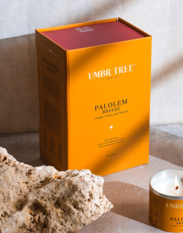 Umbr Tree fine home fragrance candle. Soul of India Collection. Palolem Breeze. Orange, Ozone, Soft Powder, Tropical fruits, Sun, sunny, beach, Goa, Goan, Beach life. Home perfume. Soy wax, Coconut wax, palm wax, bees wax. All natural wax fragrance candles. Scented candles. Bangalore India candles. gift set candles. Fragrance gift set candles. Home perfume candles. Gift set candles. Candle shop. Fine Home Fragrance Shop.