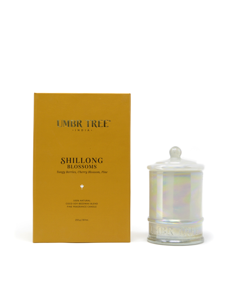 Umbr Tree fine home fragrance candle. Soul of India Collection. Shillong Blossoms. tangy berries cherry blossoms pineHome perfume. Soy wax, Coconut wax, palm wax, bees wax. All natural wax fragrance candles. Scented candles. Bangalore India candles. gift set candles. Fragrance gift set candles. Home perfume candles. Gift set candles. Candle shop. Fine Home Fragrance Shop. Natural air purifier. no additives no dyes no paraffin no petroleum no chemicals no phthalates no parabens no sulfates cruelty free vegan organic ingredients.