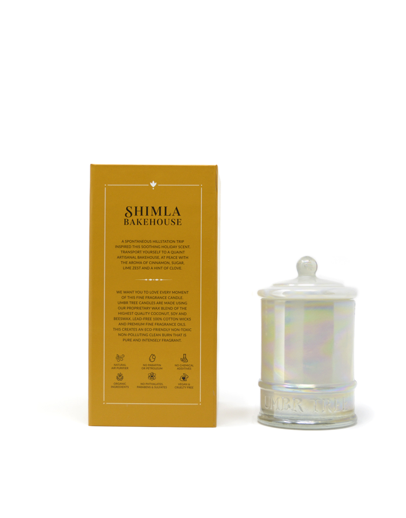 Umbr Tree fine home fragrance candle. Soul of India Collection. Shimla Bakehouse. cinnamon sugar cedarwood. Home perfume. Soy wax, Coconut wax, palm wax, bees wax. All natural wax fragrance candles. Scented candles. Bangalore India candles. gift set candles. Fragrance gift set candles. Home perfume candles. Gift set candles. Candle shop. Fine Home Fragrance Shop. Natural air purifier. no additives no dyes no paraffin no petroleum no chemicals no phthalates no parabens no sulfates cruelty free vegan organic ingredients