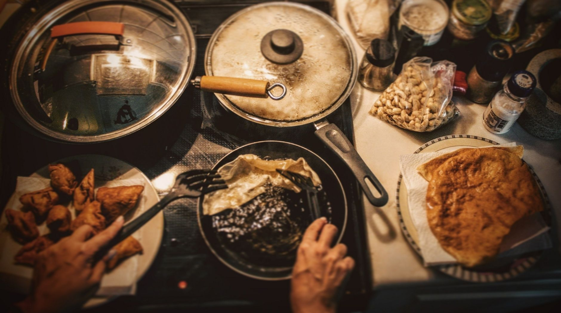 Cooking to reduce stress
